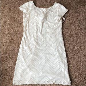 WHBM white sequin dress